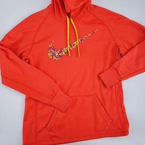Nike//Orange Neon Therma Fit Sweater hoodie